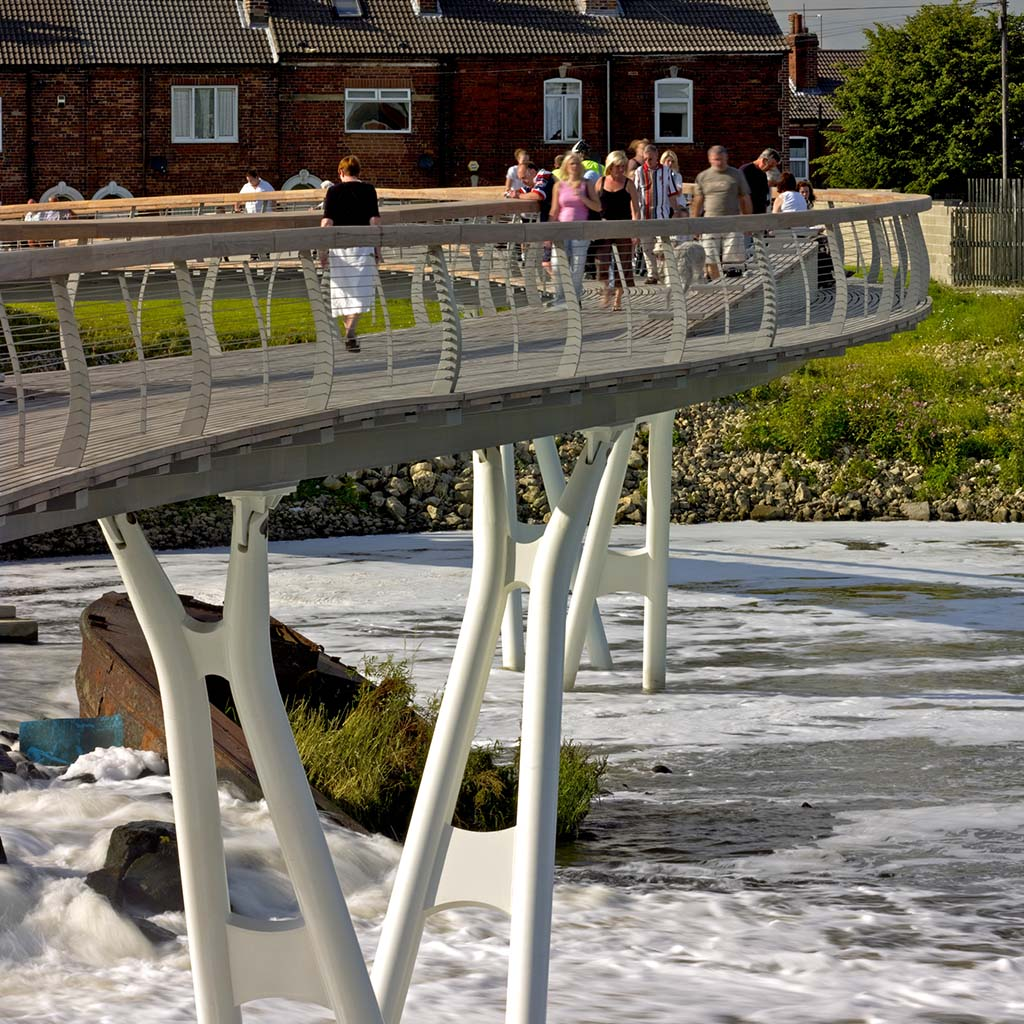 View of bridge deck and piers by T Soar