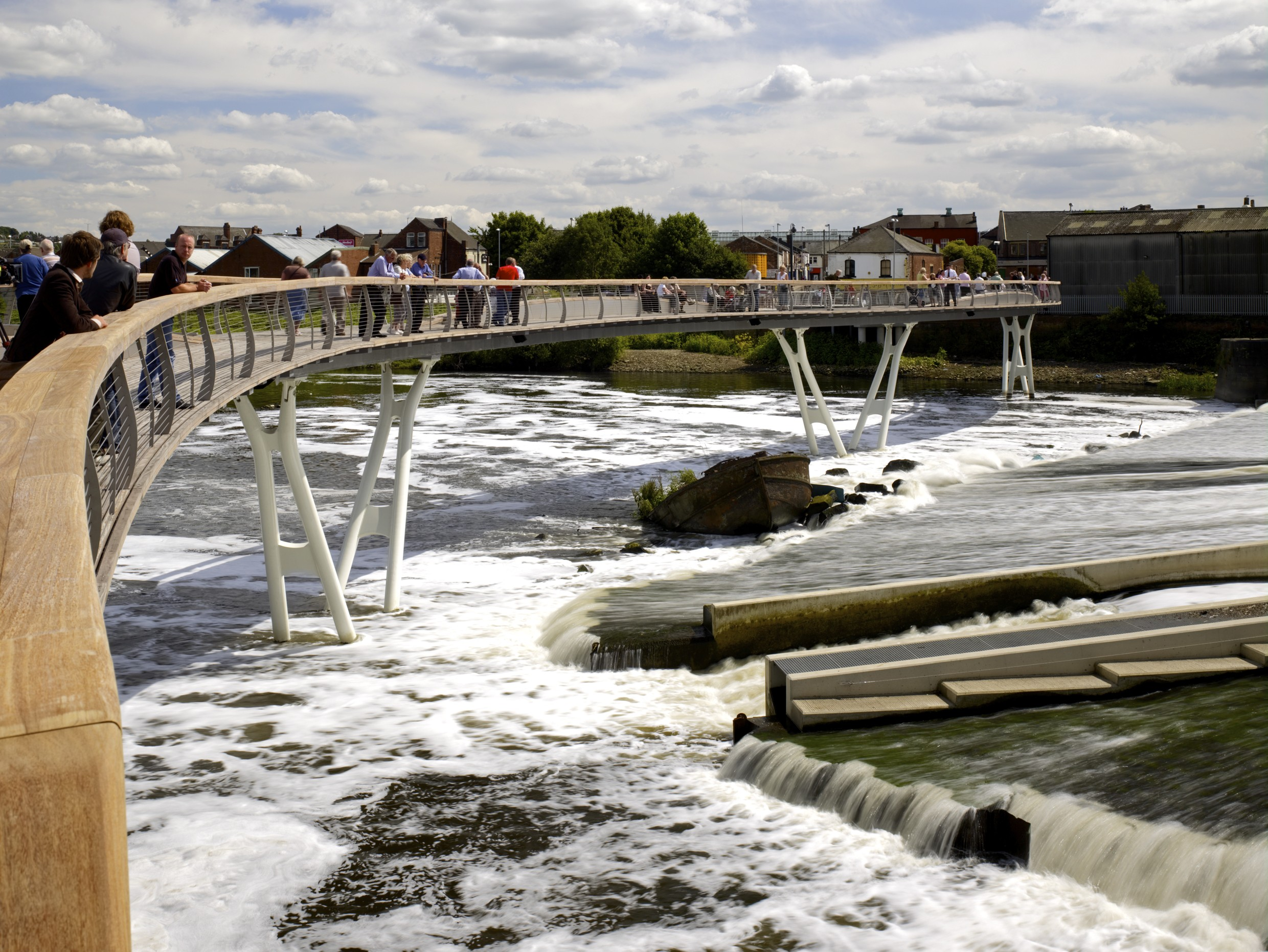 View of bridge over river Weir by T Soar