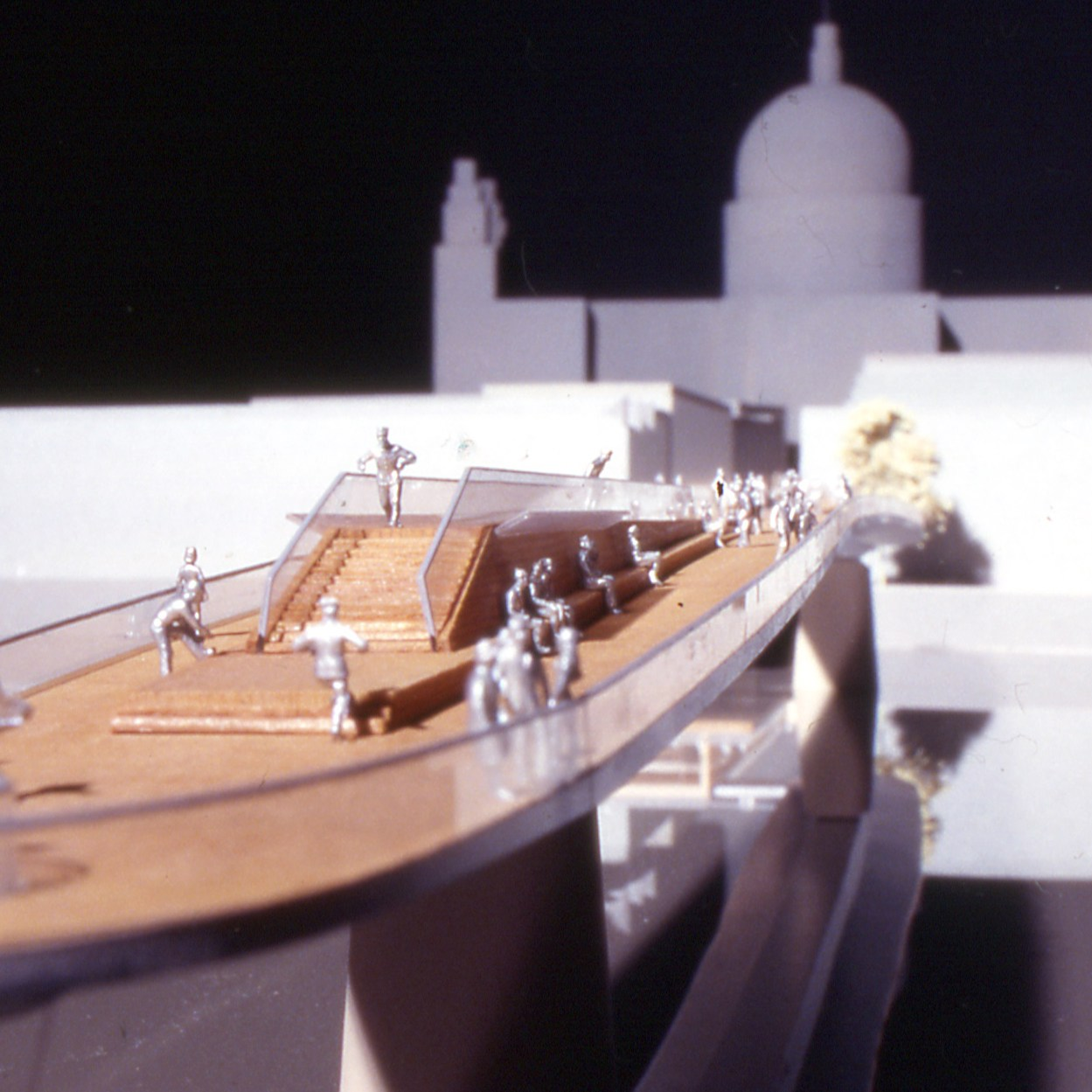 Model view of bridge deck