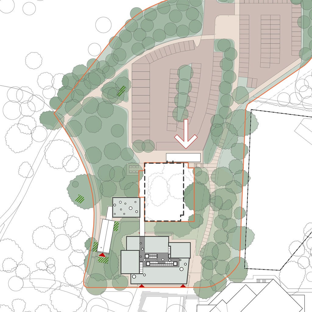 Site plan drawing