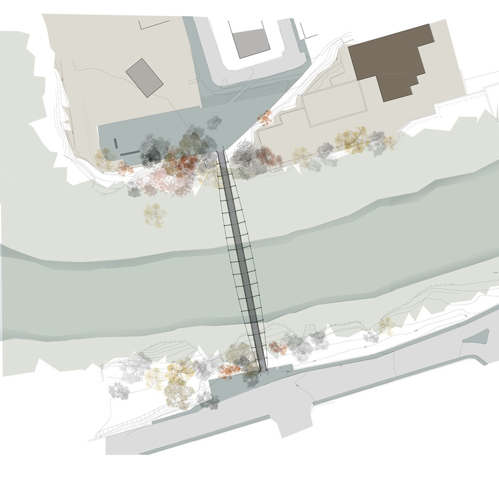 Site plan drawing by MB